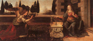 A Anunciação - Leonardo da Vinci (1452-1519